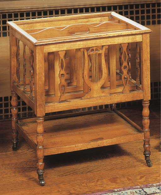 A LATE VICTORIAN FRUITWOOD CAN
