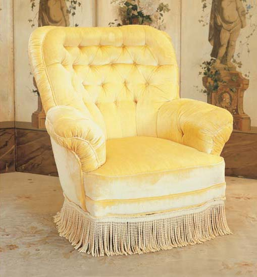 A VICTORIAN STYLE UPHOLSTERED