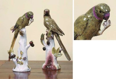 TWO MEISSEN PORCELAIN MODELS O