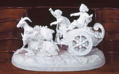 A FRENCH BISCUIT PORCELAIN GRO