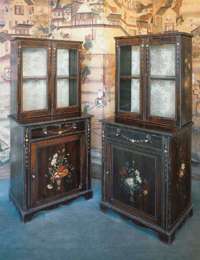 A PAIR OF EARLY VICTORIAN POLY