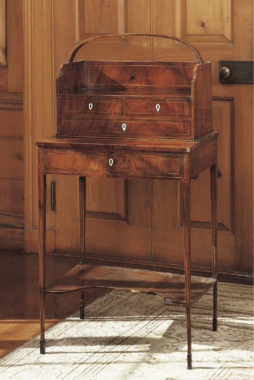 A GEORGE III MAHOGANY CHEVERET