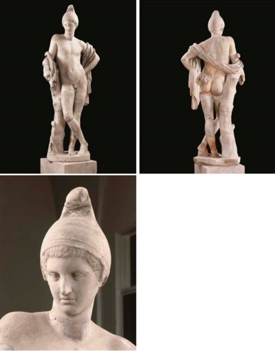 A MARBLE FIGURE OF A YOUTHFUL