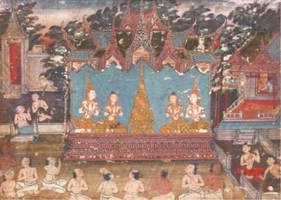 A Thai Religious Painting