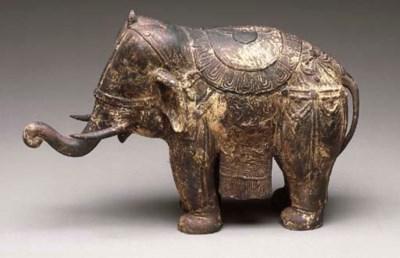 A Thai Patinated Bronze Figure