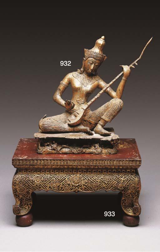 A Thai Gilt-Bronze Figure of a