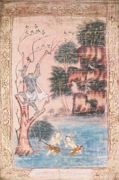 A Set of Three Thai Paintings