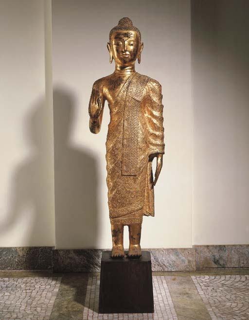 A Burmese Gilt-Bronze Figure o