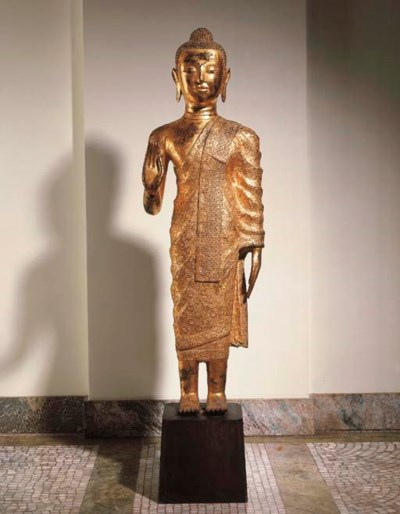 A Burmese Gilt-Bronze Figure o