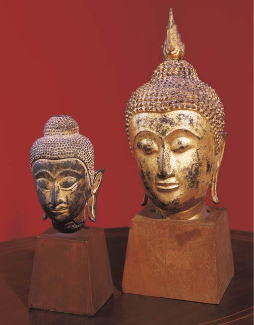 A Thai Gilt-Bronze Head of Bud