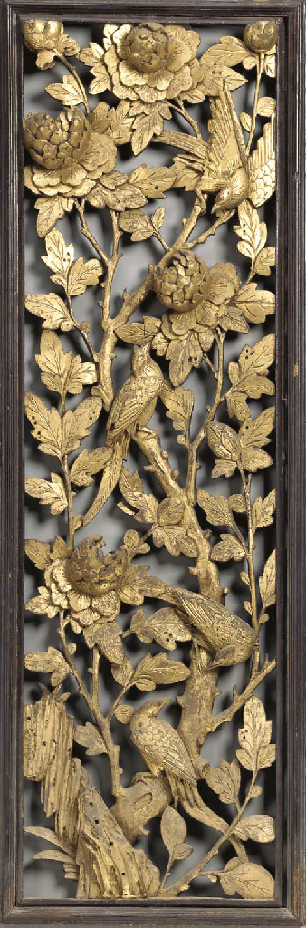Eight Thai Carved and Gilt-Woo