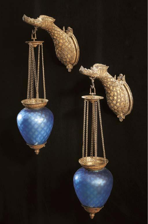 A Pair of Thai Hamsa Lamps
