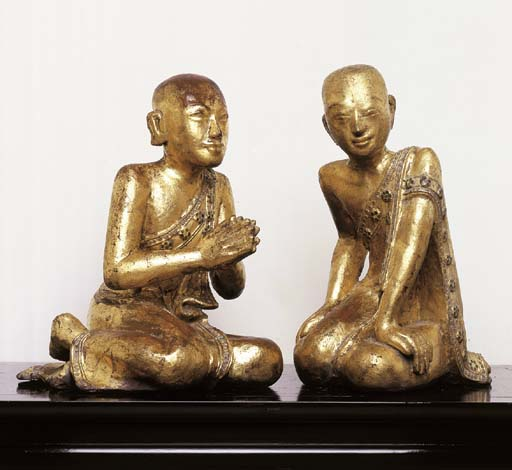 A Pair of Burmese Lacquered an