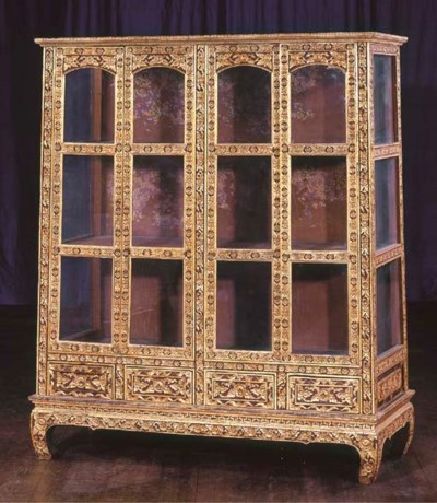 A Thai Gilt and Lacquered-Wood