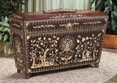 A Thai Mother-of Pearl Inlaid