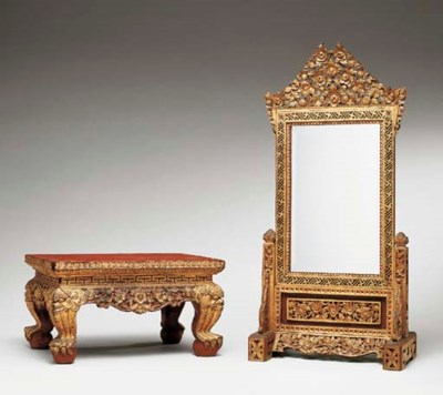 A Thai Lacquered and Gilt-Wood