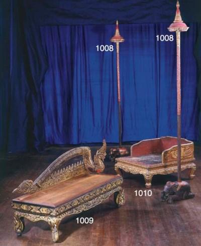 A Thai Gilt-Wood Bench