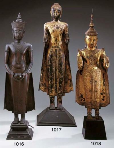 A Thai Lacquered and Gilt-Bron