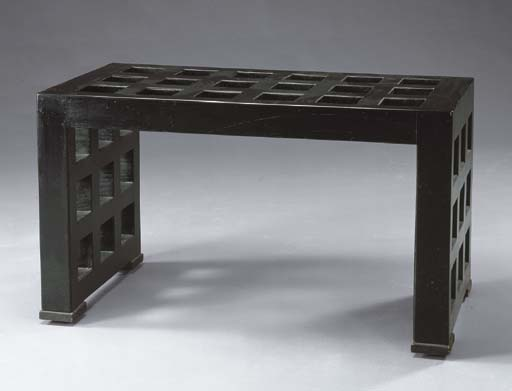 A BLACK-LACQUER SIDE TABLE