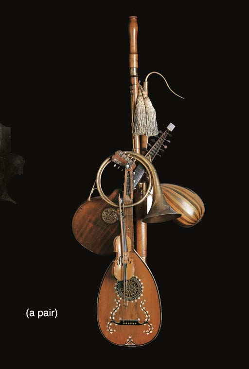 A PAIR OF MUSICAL INSTRUMENT T