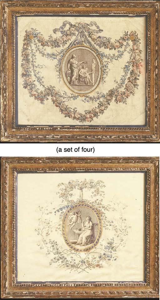 A SET OF FOUR LOUIS XVI PRINTE