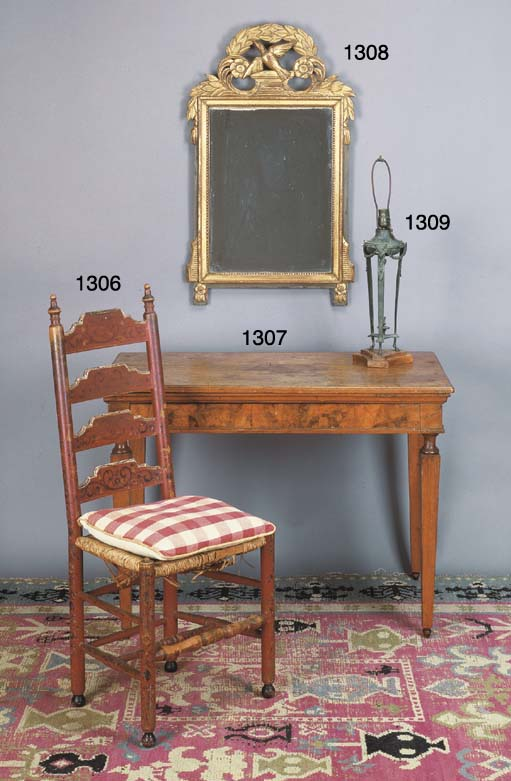 A DIRECTOIRE STYLE PATINATED-B