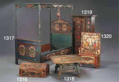 A MEXICAN POLYCHROME-DECORATED