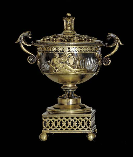 A FRENCH SILVER-GILT COVERED B