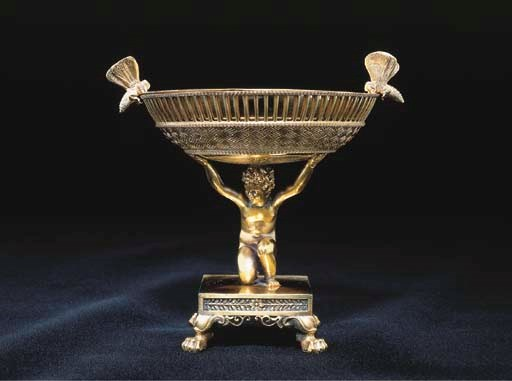 A FRENCH EMPIRE SILVER-GILT SW