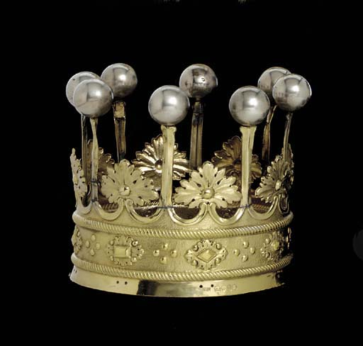 A WILLIAM IV PARCEL-GILT SILVE