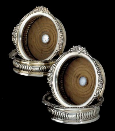 A SET OF FOUR REGENCY SILVER W