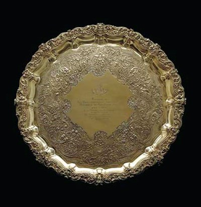 A GEORGE IV IRISH SILVER-GILT
