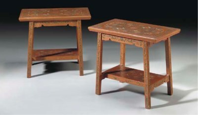 A PAIR OF CHINESE PAINTED RED-
