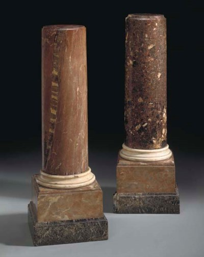 TWO MARBLE COLUMNS