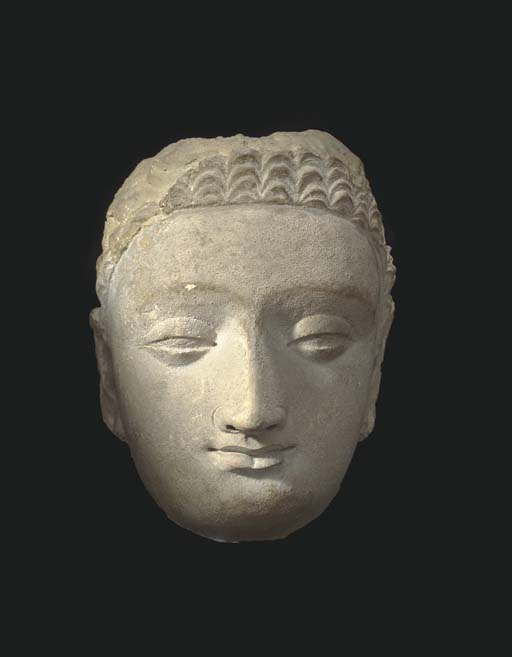 A LARGE GANDHARAN STUCCO HEAD