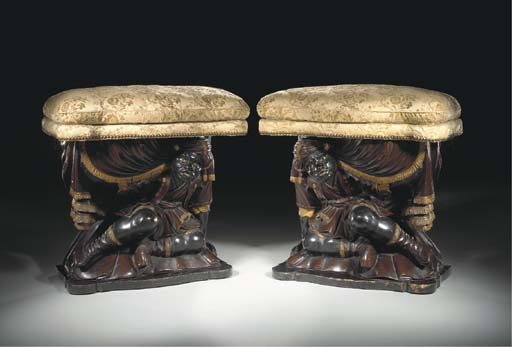 A PAIR OF ITALIAN BONE-INLAID