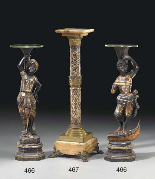 A FRENCH BRONZE, CLOISONNE ENA