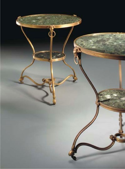 A PAIR OF FRENCH ORMOLU AND VE
