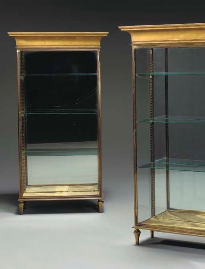 A PAIR OF FRENCH GILT BRASS, G