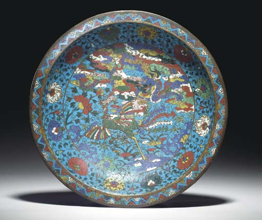 A CHINESE CLOISONNE ENAMEL FOO