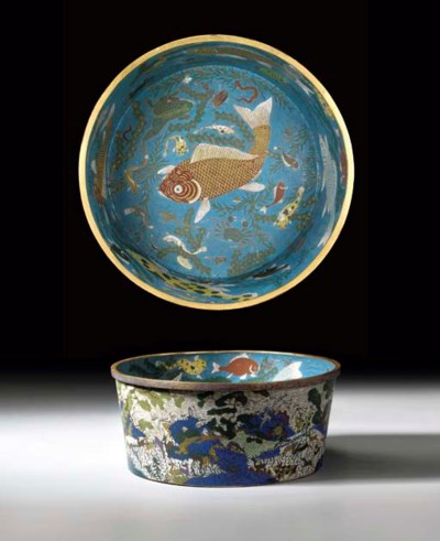 A RARE LARGE CHINESE CLOISONNE
