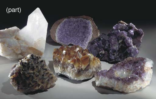 A GROUP OF SEVEN MINERAL SPECI
