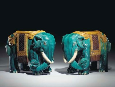 A PAIR OF CHINESE ELEPHANT-FOR