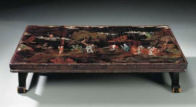 A CHINESE RECTANGULAR LOW TABL