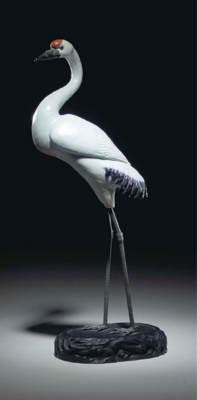 A CHINESE EXPORT CRANE