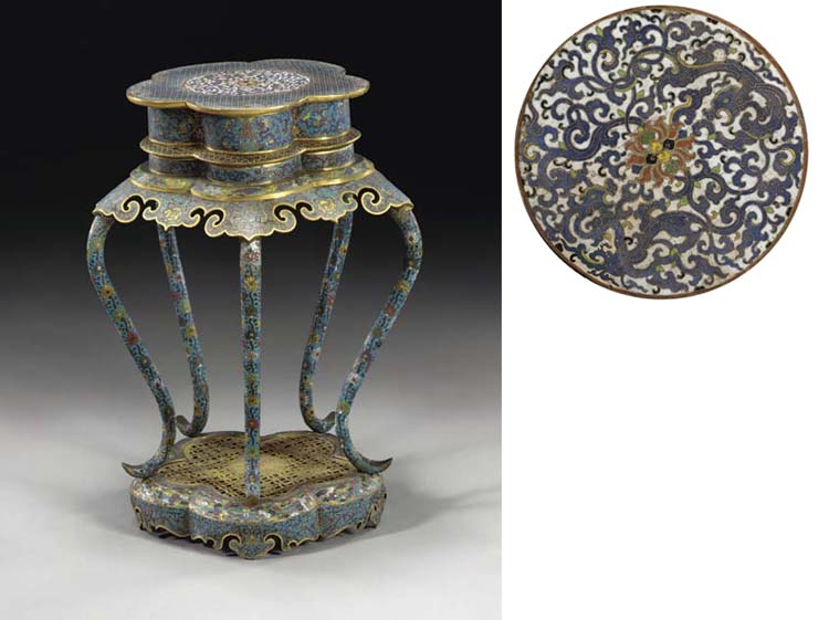 A RARE CHINESE CLOISONNE ENAME
