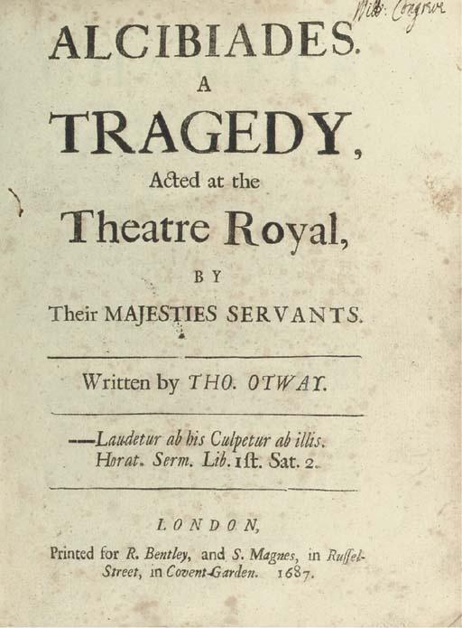[CONGREVE, William (1670-1729)