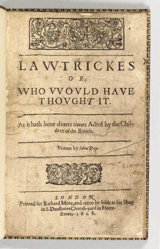 DAY, John (ca 1574-ca 1640). L