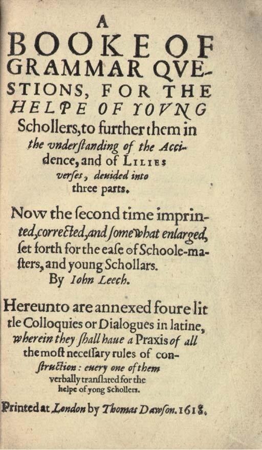 LEECH, John (late 16th-early 1