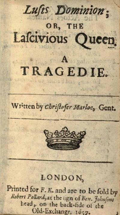 [MARLOWE, Christopher (1564-15